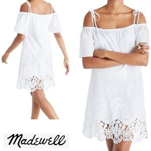 Madewell Embroidery Cotton Eyelet Dress